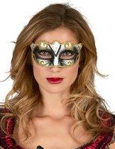 NINGBO PARTY SUPPLIES - Goudkleurig Venetiaans glitter masker voor volwassenen - Maskers > Venetiaanse maskers