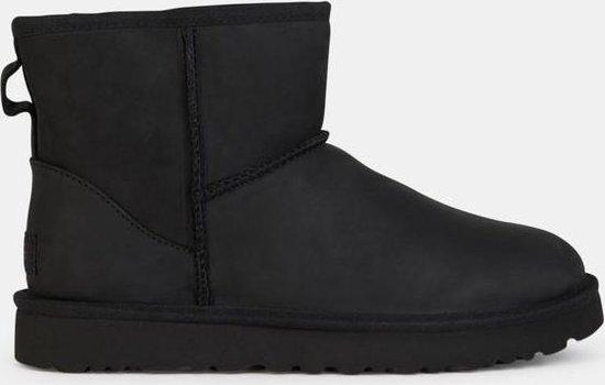 UGG Classic Mini Leather Dames Laarzen Black Maat 41