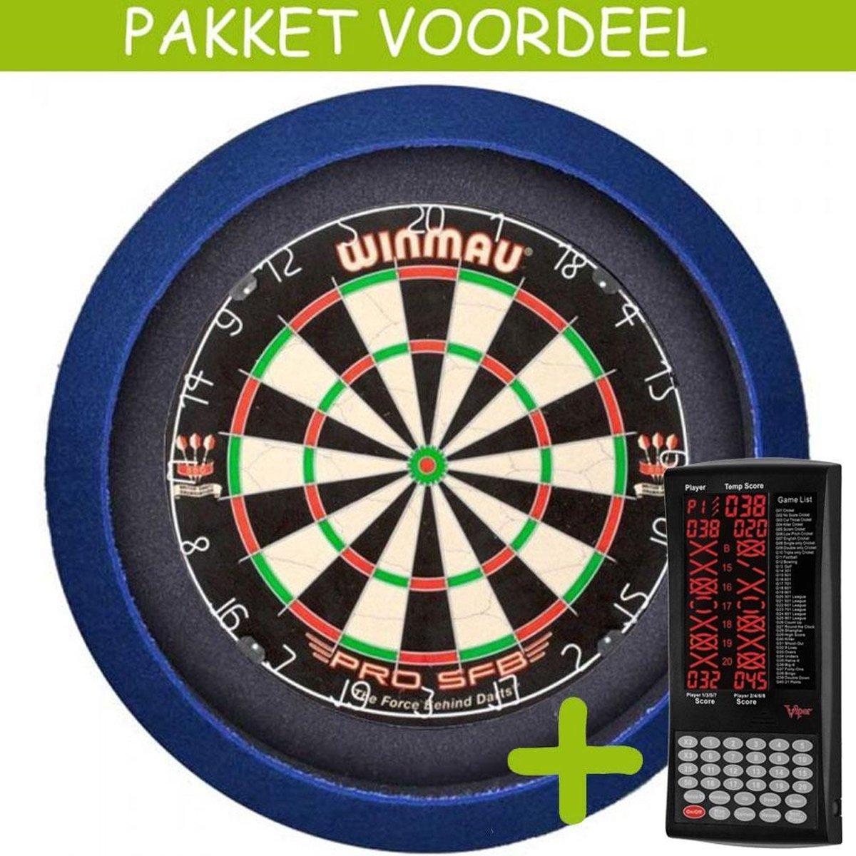 Elektronisch Dart Scorebord VoordeelPakket (Viper ) - Pro SFB - Dartbordverlichting Basic (Blauw)