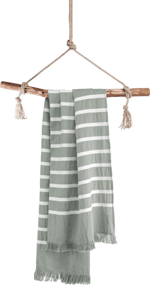 Walra Hamamdoek Fouta Sunny Stripes - 100x180 cm - Jade