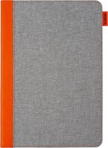 Gecko Covers Easy-Click Bookcase iPad 10.2 (2019) tablethoes - Grijs / Oranje
