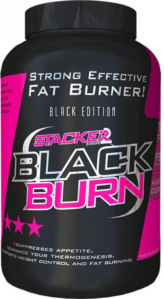 Stacker 2 - Black Burn - Fat Burner - Vetverbrander - 120 Capsules