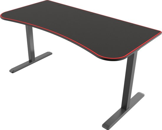 Bureau computertafel Thomas - game bureau - 160 cm x 80 cm - zwart