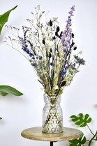 Droogbloemen boeket | Black & Blue 65 cm | Dried Flowers | Gedroogde bloemen