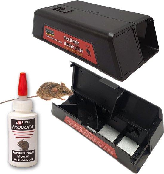 AANBIEDING- 2 stuks Elektrische muizenval en 1 stuks Provoke muizenlokmiddel