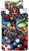Marvel Avengers Dekbedovertrek All-Out - Eenpersoons - 140  x 200 cm - Multi