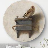 HIP ORGNL Het puttertje - Carel Fabritius   rond schilderij   wandcirkel   muurcirkel   ronde oude meesters   ⌀ 60 cm   wanddecoratie   kunstwerken   dibond   aluminium