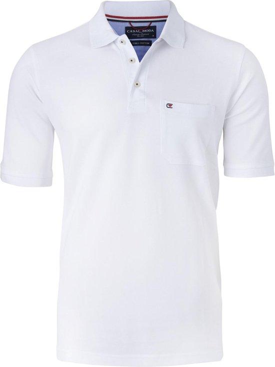 Casa Moda Comfort Fit Poloshirt - Wit Maat Xxl