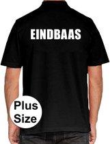 Eindbaas grote maten poloshirt zwart voor heren - Plus size Eindbaas polo t-shirt 3XL