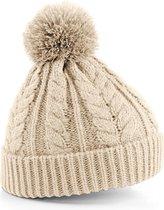 Beechfield Unisex Heavyweight Cable Knit Snowstar Winter Beanie Hat (Havermout)
