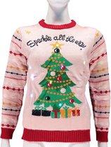 Dames foute kersttrui Sparkle All The Way met lichtjes  - Foute kersttruien met verlichting - Kerstmis truien/sweaters voor vrouwen M