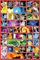 Pokemon Aanvallen Poster 61x91.5cm