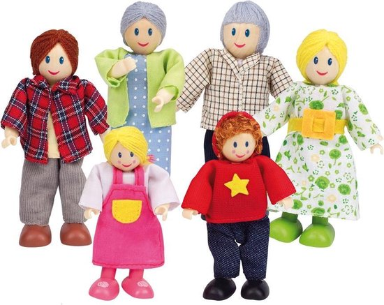 Hape Puppenfamilie Europ�isch - Multicolor