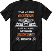 Formule 1 T-Shirt Oranje Heren –  Design Race shirt Dames – Perfect f1 raceauto  tshirt Cadeau – Grappig Autorace Racing tekst shirt - Maat s