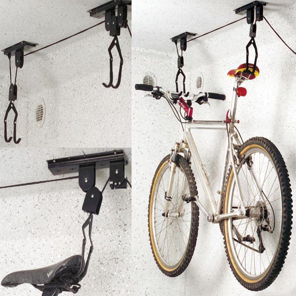 Proplus fietsophangsysteem - Fietslift - Fiets plafondhaken - Ophanghaken