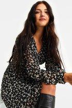 WE Fashion Dames overslagjurk met luipaarddessin