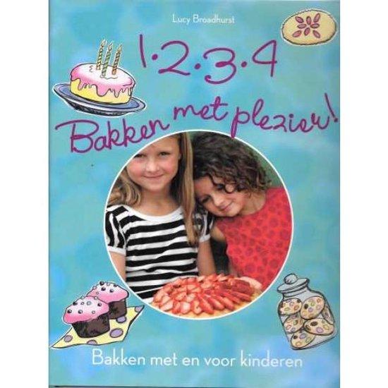 Cover van het boek '1,2,3,4, bakken met plezier' van L. Broadhurst