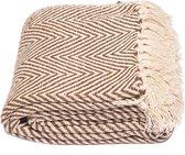 Yoga deken / meditatie deken visgraat bruin