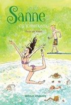 Boek cover Sanne op zomerkamp van Paula van Manen