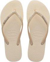 Havaianas Slim Glitter II Meisjes Slippers - Beige - Maat 33/34