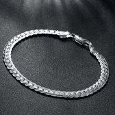 Zilveren Armband met Cuban Schakels   925 Zilver   Versierde Cuban Link   5mm   Armband Heren   Armband Dames   Armband Mannen   Mannen Cadeautjes    Cadeau voor Mannen