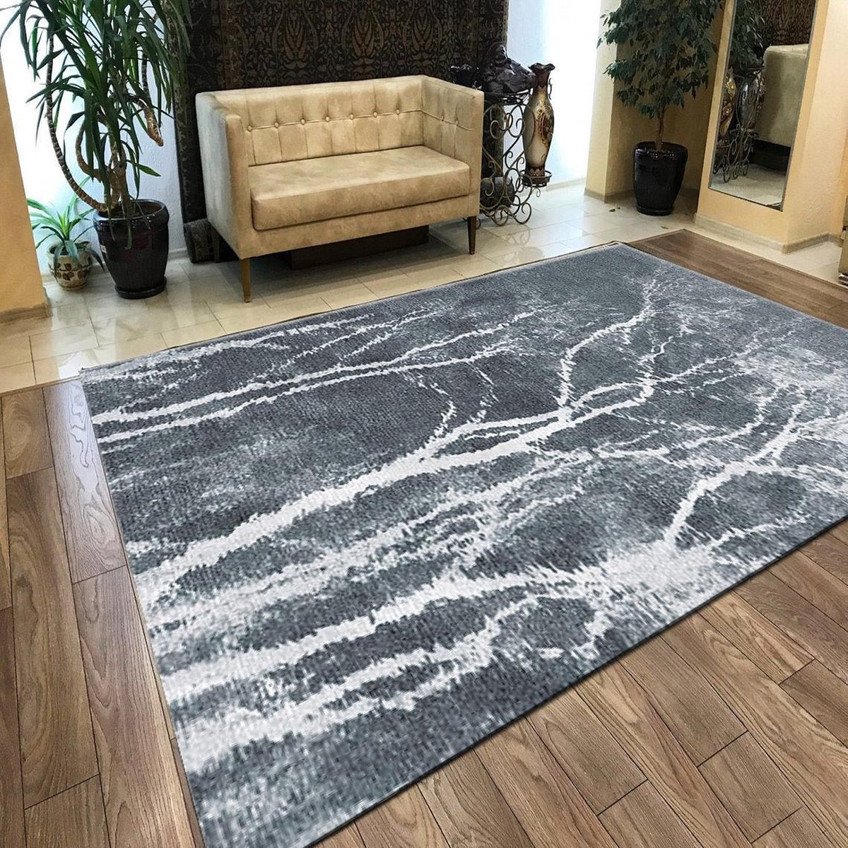 Herms-Abstract 12 Patterned Carpet -Vloerkleed-Antislip-180x280 cm