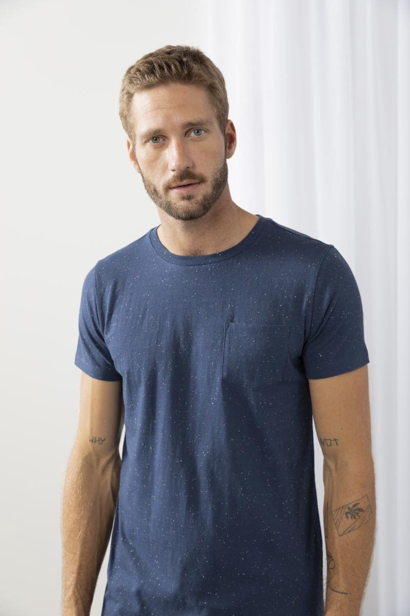 Sissy-Boy - Donkerblauw t-shirt met borstzak Essential