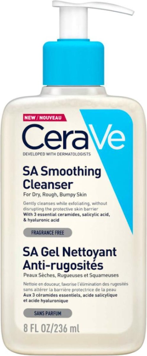 CeraVe Smoothing Cleanser 236ml SA Gel - gezichtsreiniger - gezichtsverzorging -