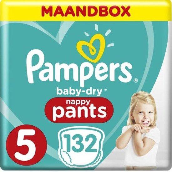 Pampers Baby-Dry Pants Luierbroekjes - Maat 5 (12-17 kg) - 132 stuks - Maandbox