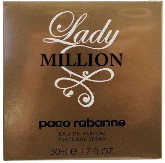 Paco Rabanne Lady Million 50 ml - Eau de parfum - Damesparfum