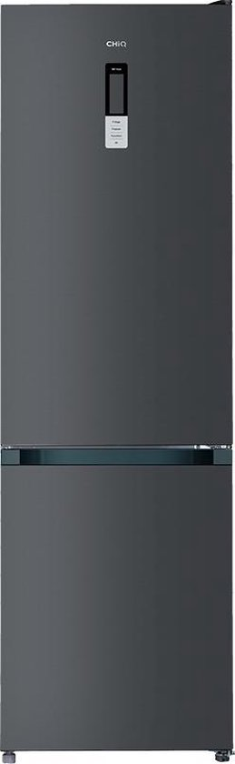 Koelkast: CHiQ FBM351NEI42 - Koel-vriescombinatie - 351 Liter (257 + 94) - No Frost - Donker RVS - Omkeerbare deuren, van het merk chiq