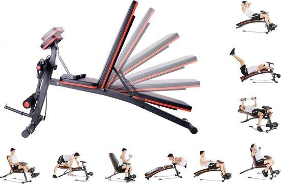 Fitnessbank - Fitnessbank verstelbaar - Halterbank - Buikspierbank - Beentrainer - Fitness - 153 x 53 x 102 cm