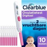 Clearblue Ovulatietestset Digitaal, Bewezen Dat Het Helpt Om Zwanger Te Worden, 1 Digitale Houder En 10 Testen