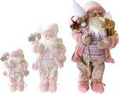 Kerstman staand roze 60 cm