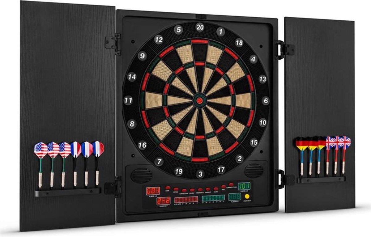 Dartchamp dartbord dartautomaat softtip design-deuren zwart