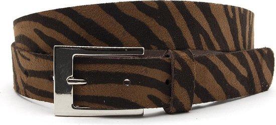 Dames ceintuur zebra bruin/donker bruin