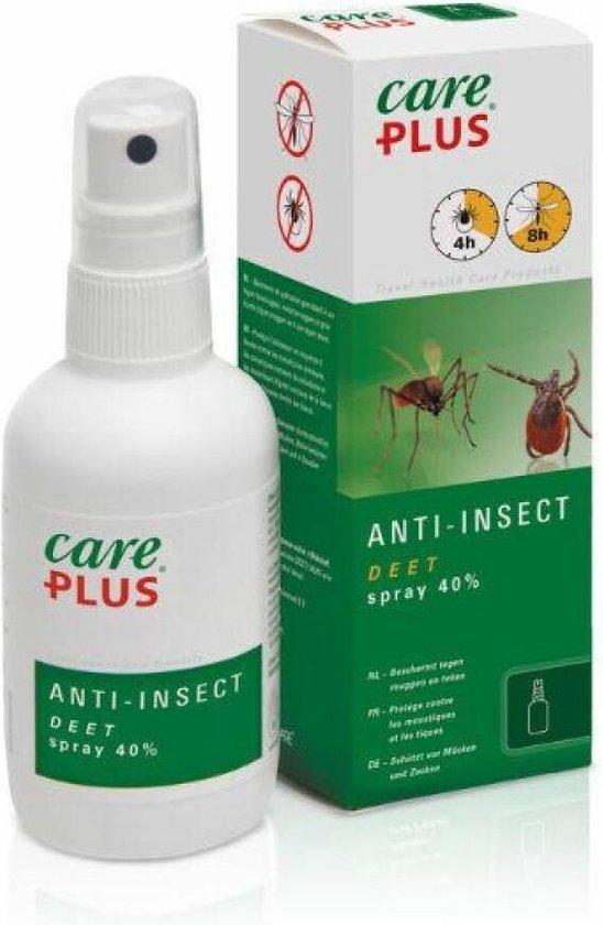 Care plus Anti-Insect Deet 40% spray, 100ml- beschermt tegen muggen en teken