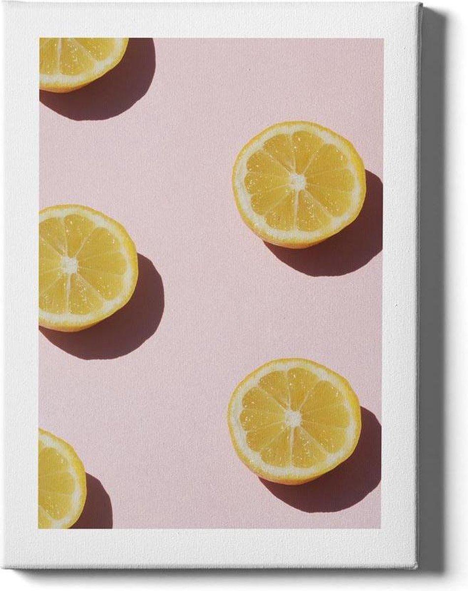Sliced Lemons II - Walljar - Wanddecoratie - Poster ingelijst