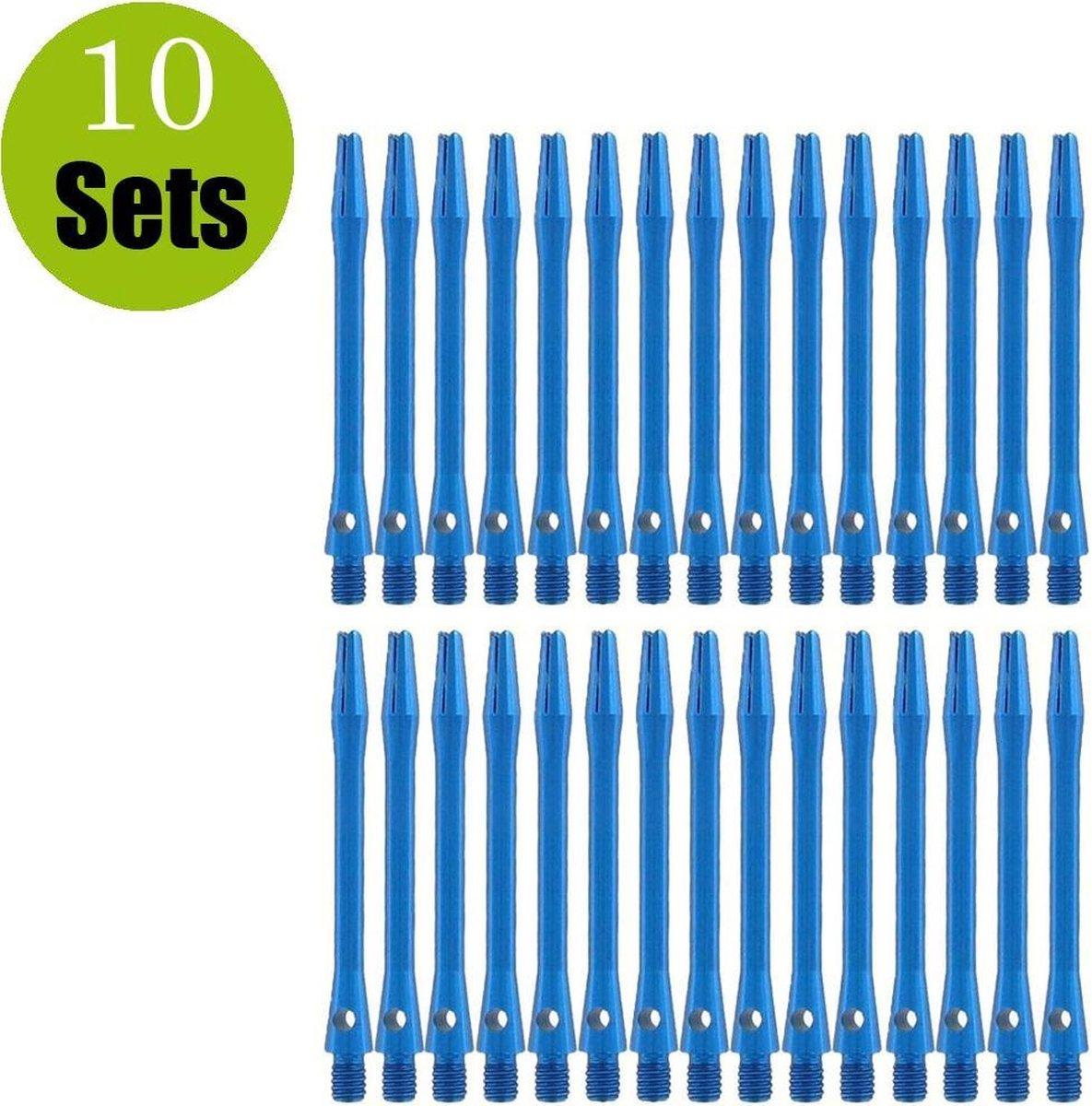 Aluminium Dart Shafts - Blauw - Short - (10 Sets)