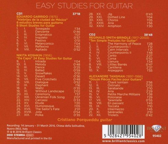 Easy Studies For Guitar, Volume 1
