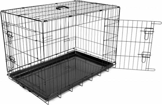 Duvo+ Hondenbench  - Zwart - 123 x 77 x 83cm