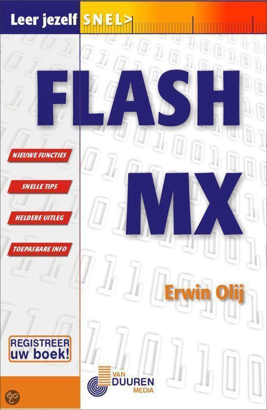 Cover van het boek 'Leer jezelf snel Flash MX'
