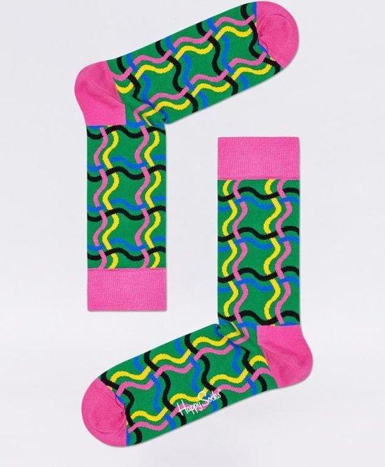 gelukkig sokken vrouwen Squiggly sok