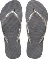 Havaianas Slim Flatform Dames Slippers - Steel Grey - Maat 39/40
