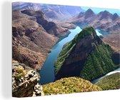 Luchtmening van de Afrikaanse Blyvieri-poort in Zuid-Afrika Canvas 180x120 cm - Foto print op Canvas schilderij (Wanddecoratie woonkamer / slaapkamer) XXL / Groot formaat!