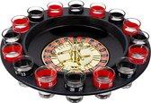 Roulette Drankspel - Shotroulette - Shots - 30 cm - Feest spelletjes - Drankspel - Drinkspel - Zwart | Rood