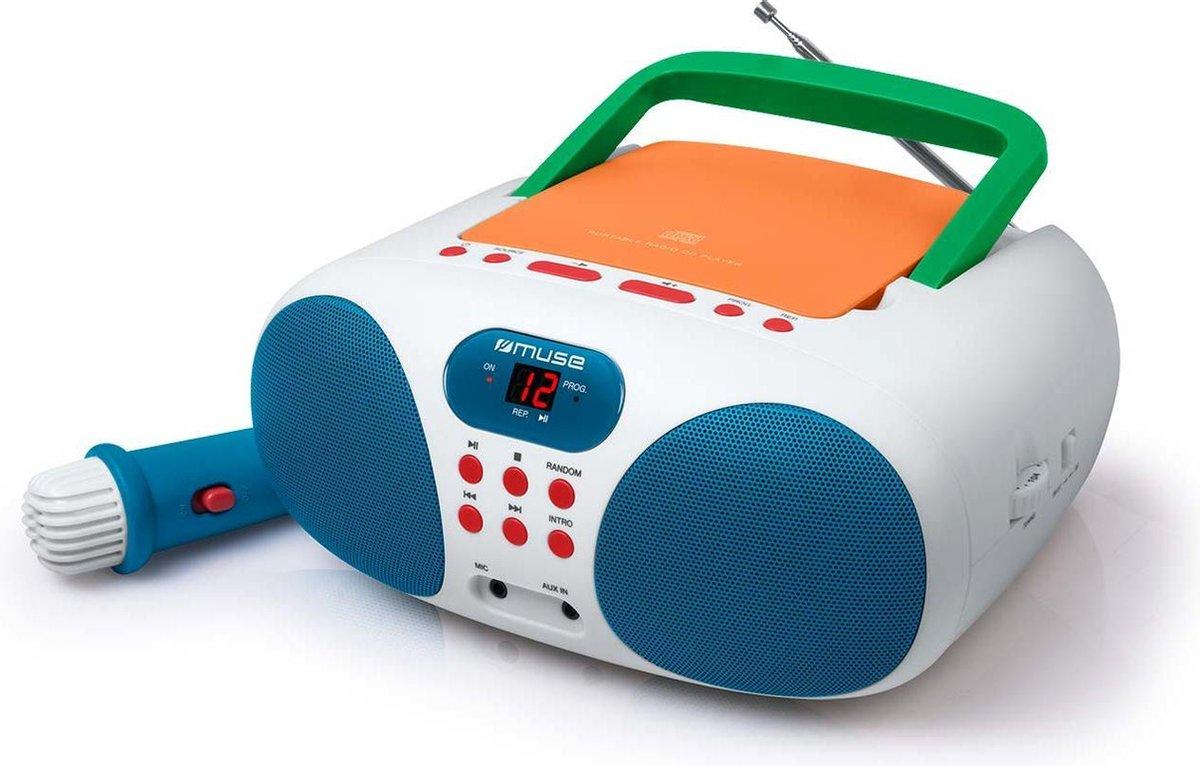 Muse MD-203 KMC Draagbare Radio, CD-speler met microfoon voor kinderen