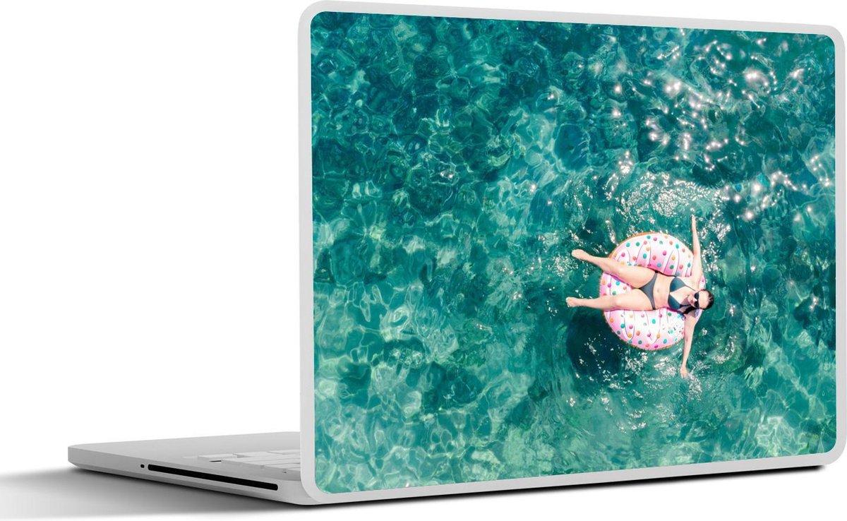 Laptop sticker - 17.3 inch - Water - Zwemband - Zomer
