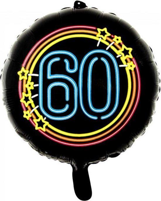 Wefiesta Folieballon 60 Neon 45 Cm Zwart