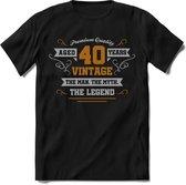 40 Jaar Legend - Feest kado T-Shirt Heren / Dames - Zilver / Goud - Perfect Verjaardag Cadeau Shirt - grappige Spreuken, Zinnen en Teksten.